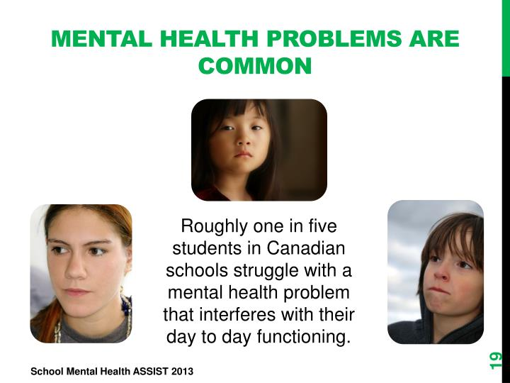 Mental Health Problems are Common