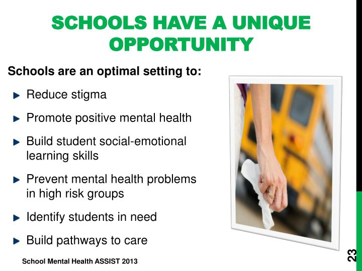 Schools Have a Unique Opportunity