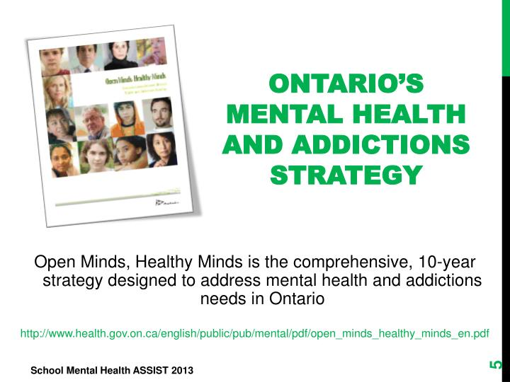 Ontario's Mental Health and Addictions Strategy