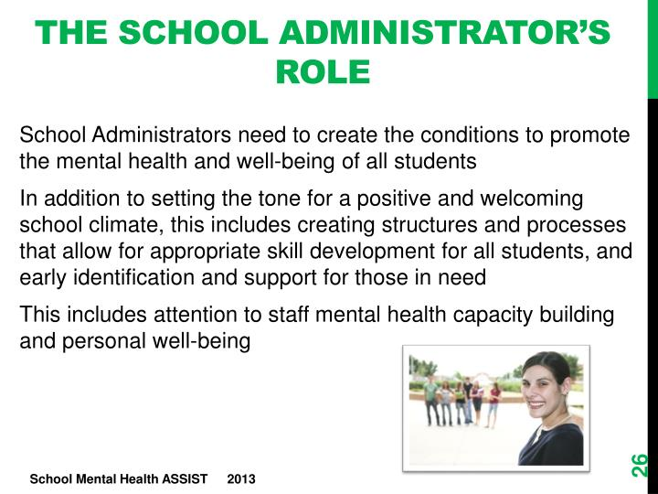 The School administrator's Role