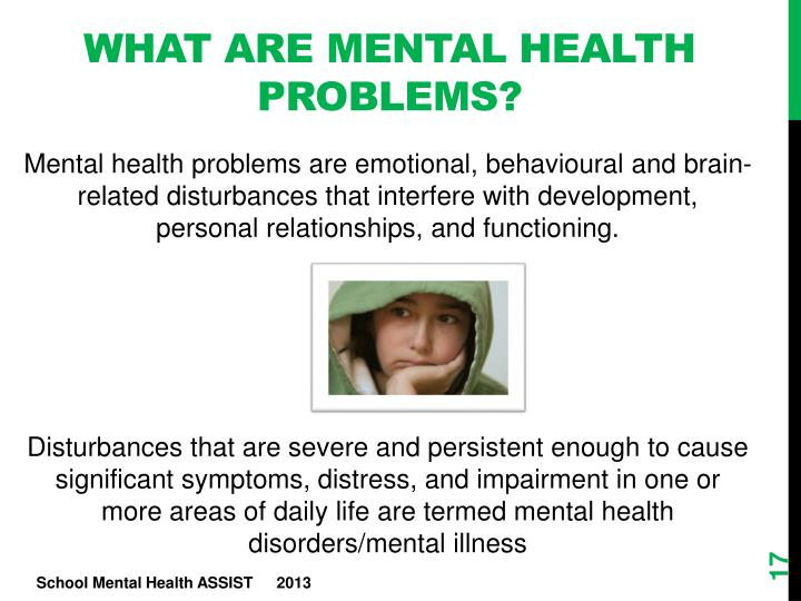 What are mental health problems?