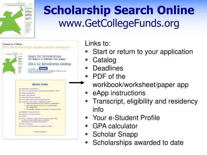 Scholarship Search Online