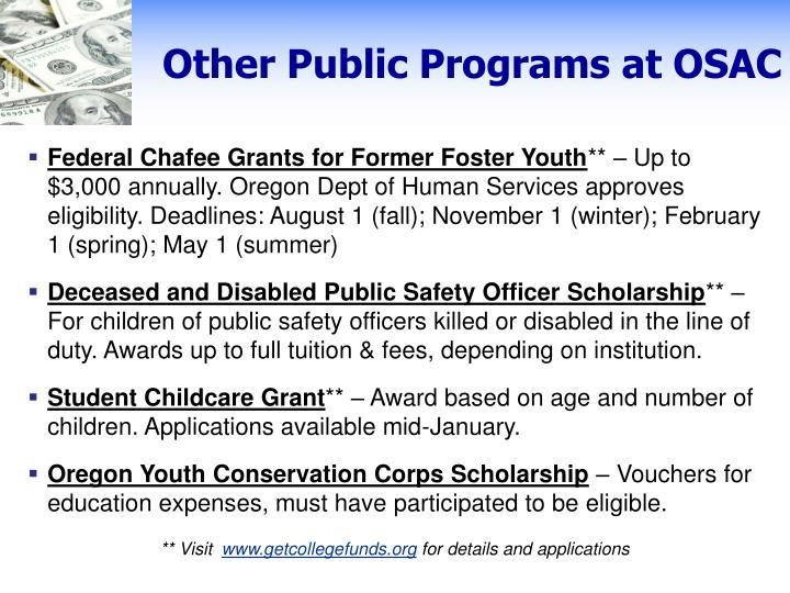 Other Public Programs at OSAC