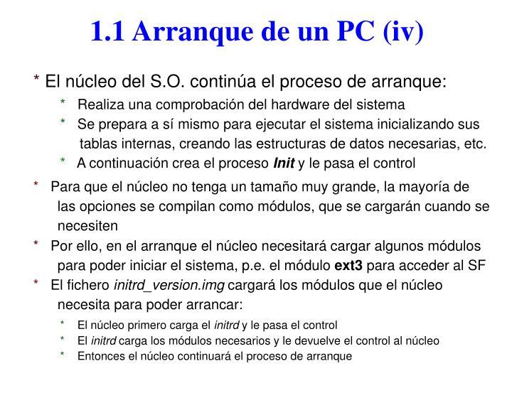 1.1 Arranque de un PC (iv)