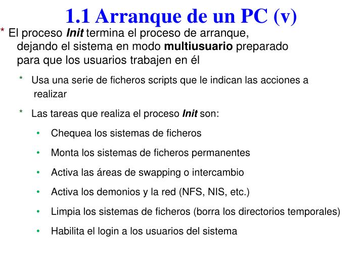 1.1 Arranque de un PC (v)