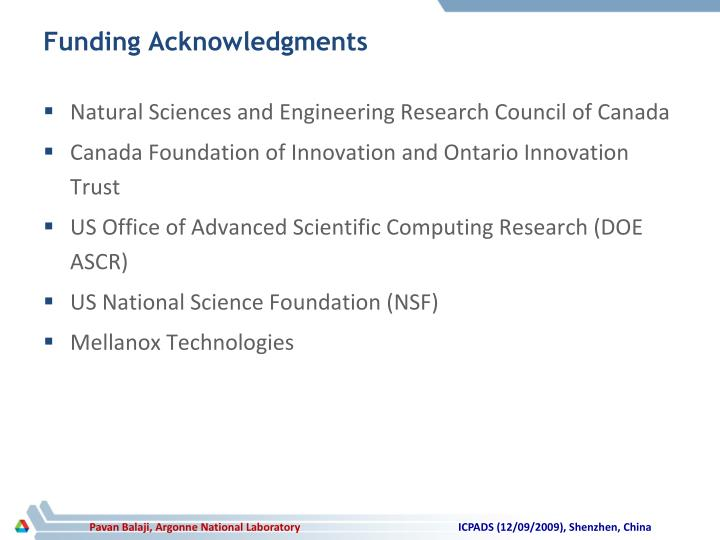 Funding Acknowledgments