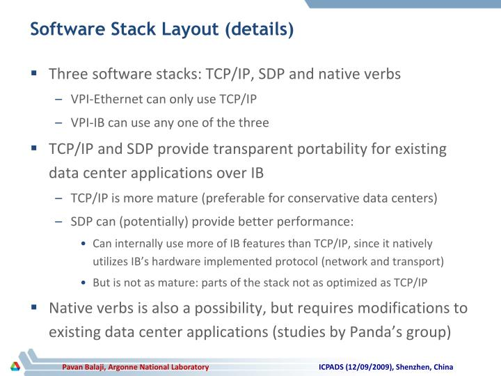 Software Stack Layout (details)
