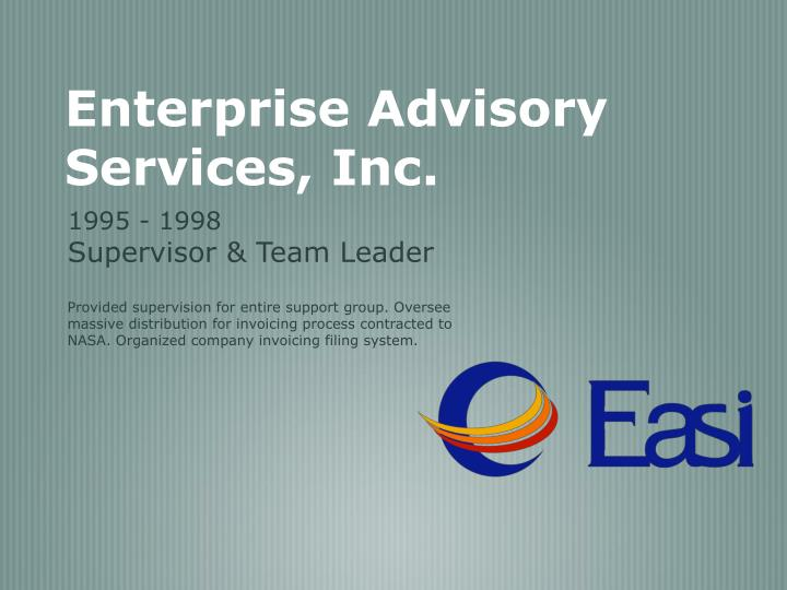Enterprise Advisory Services, Inc.