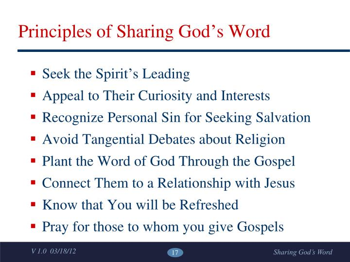 Principles of Sharing God's Word