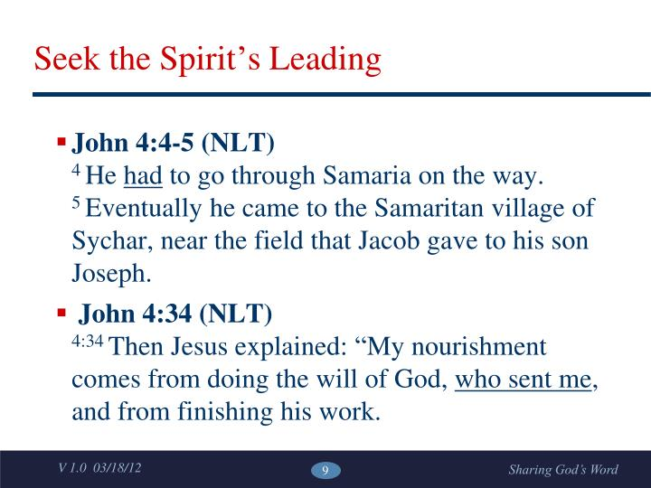 Seek the Spirit's Leading