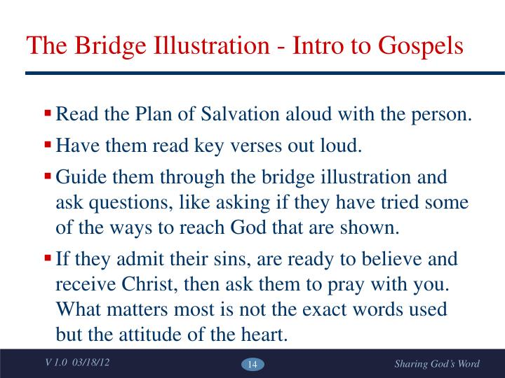 The Bridge Illustration - Intro to Gospels
