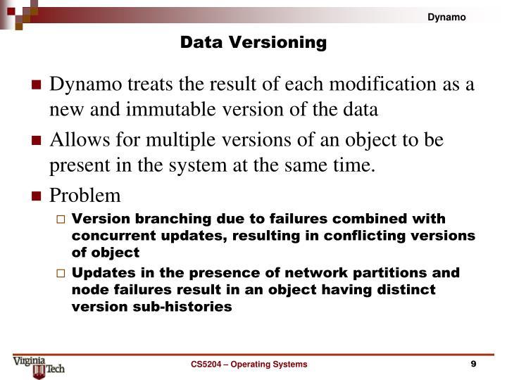 Data Versioning