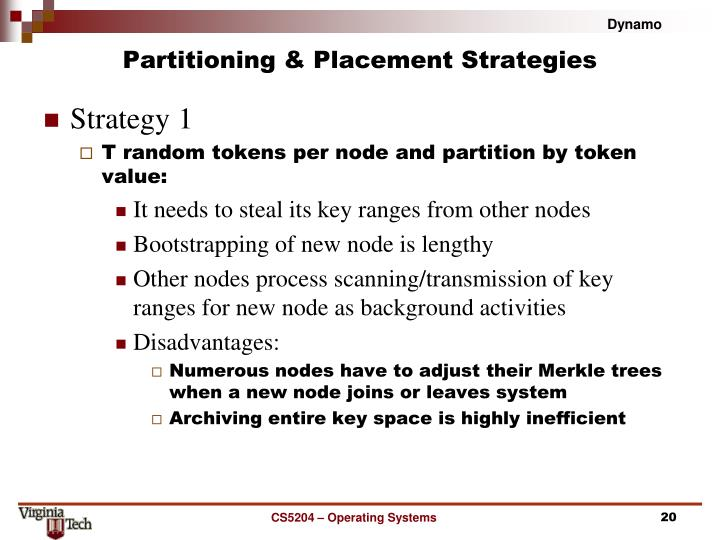 Partitioning & Placement Strategies