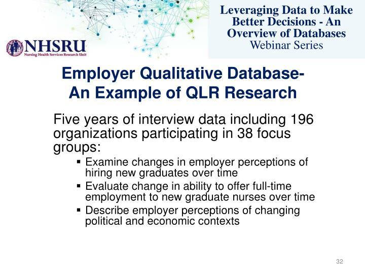 Employer Qualitative Database-