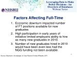 factors affecting full time