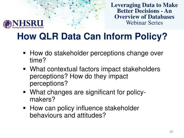 How QLR Data Can Inform Policy?