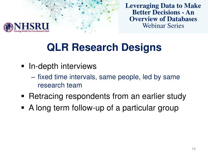 QLR Research Designs
