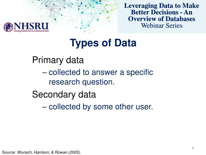 Leveraging Data to Make Better Decisions - An Overview of Databases