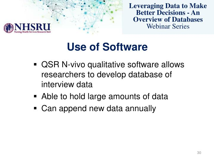 Use of Software