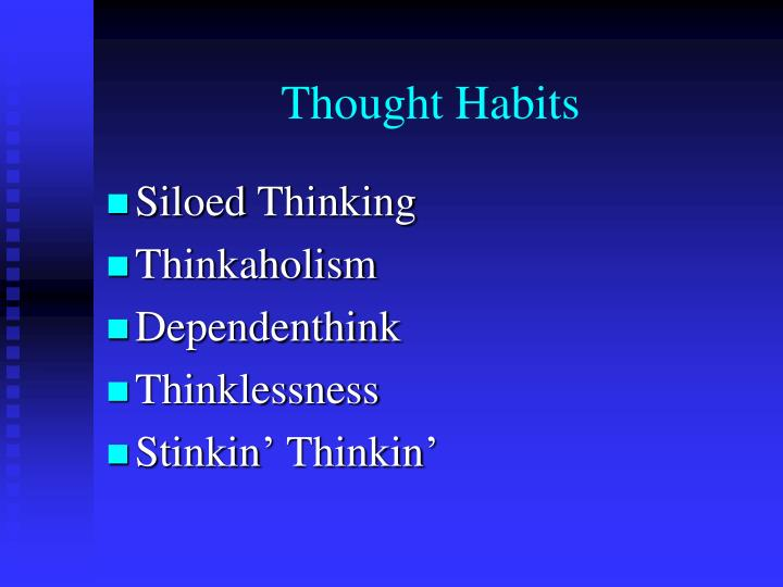 Thought Habits