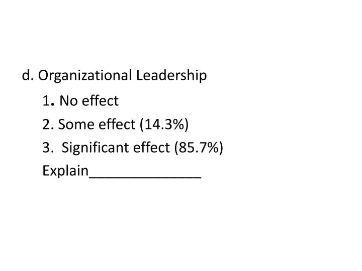 d. Organizational Leadership