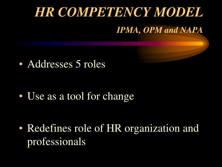 HR COMPETENCY MODEL