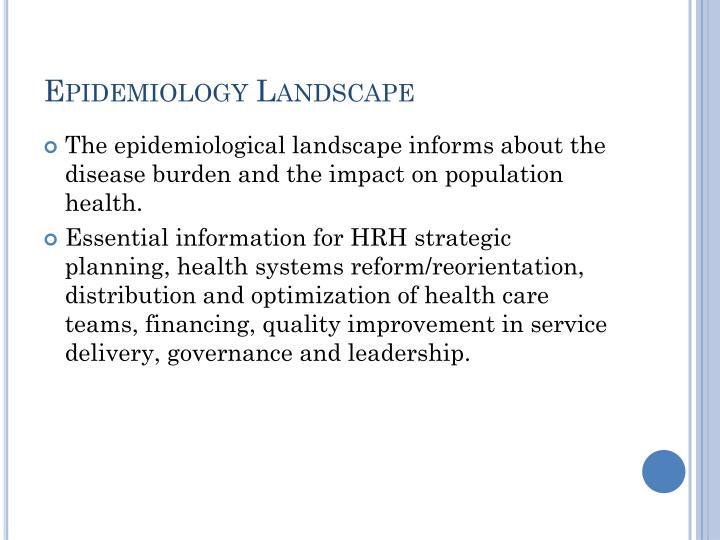 Epidemiology Landscape