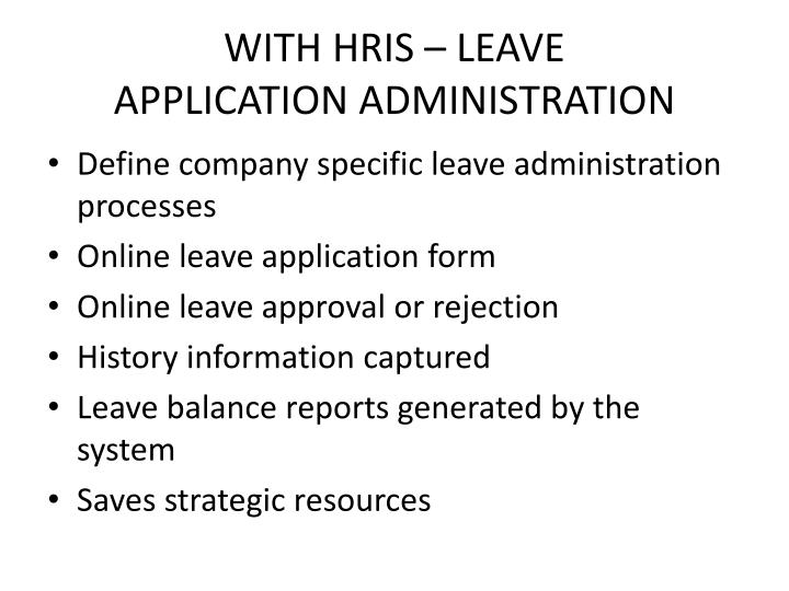 WITH HRIS – LEAVE