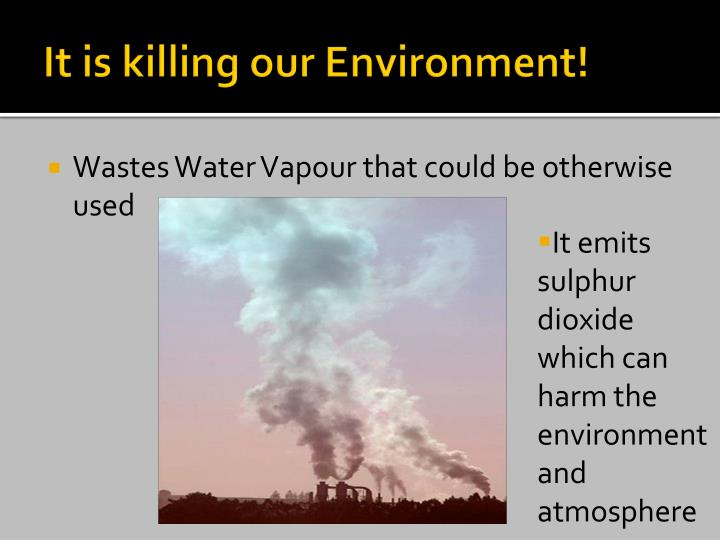 It is killing our Environment!