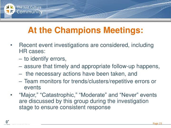 At the Champions Meetings: