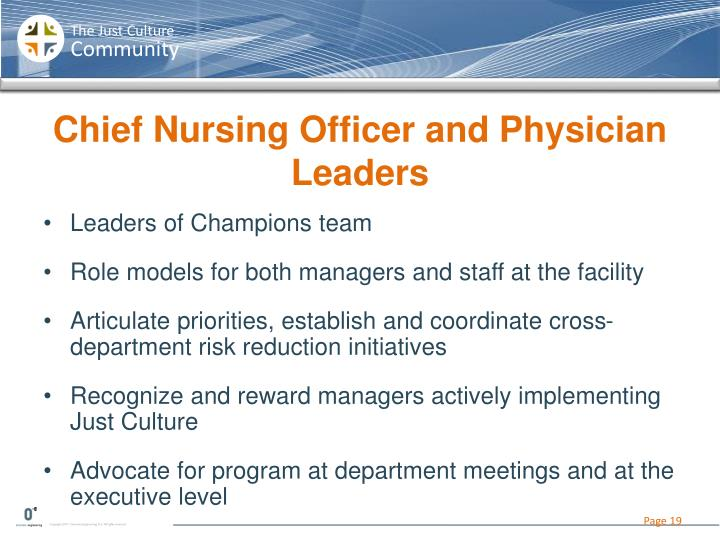 Chief Nursing Officer and
