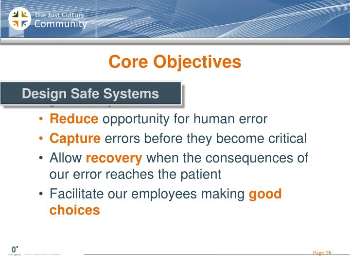 Core Objectives