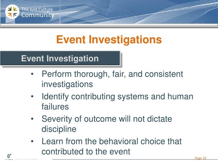 Event Investigations