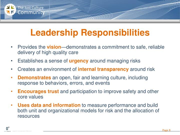 Leadership Responsibilities