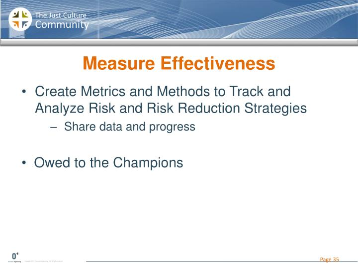 Measure Effectiveness