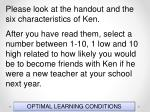 optimal learning conditions1