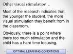 optimal learning conditions109