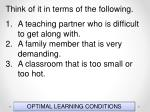 optimal learning conditions11