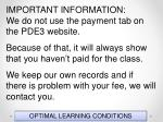 optimal learning conditions12
