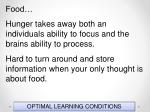 optimal learning conditions120