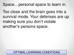 optimal learning conditions124