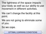 optimal learning conditions128