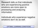 optimal learning conditions143