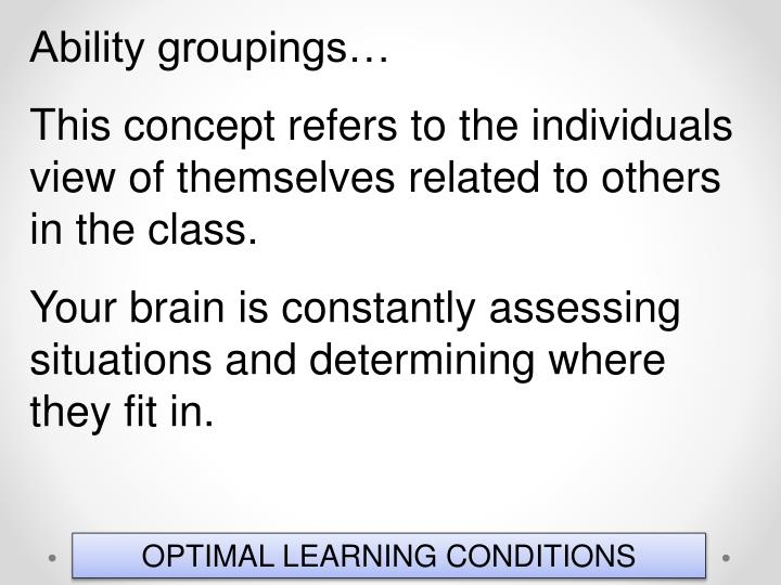 Ability groupings…