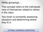 optimal learning conditions151