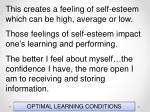 optimal learning conditions152