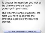 optimal learning conditions153