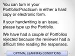 optimal learning conditions16