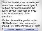 optimal learning conditions17
