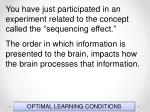 optimal learning conditions2